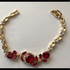 Gorgeous bracelet red/gold